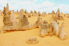 Surreal landscape in the Pinnacles desert, Australia Stock Photo