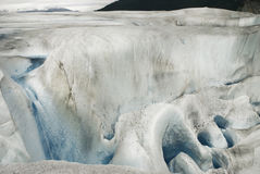 Surreal landschap en moulin bij Mendenhall-Gletsjer, Juneau, helaas Royalty-vrije Stock Fotografie