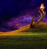 Surreal landschap royalty-vrije illustratie