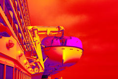Surreal Lifeboats Royalty Free Stock Images