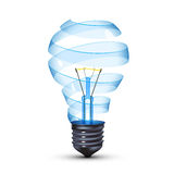 Surreal lightbulb. Surreal spiral glass tungsten light bulb Stock Photography