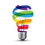 Surreal lightbulb Stock Image