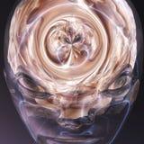 Surreal Menselijke Hersenen Royalty-vrije Stock Foto's