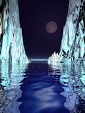 Surreal Moon and Ice Royalty Free Stock Photo