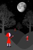Surreal nacht vector illustratie