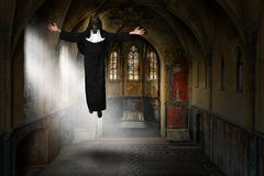 Surreal Nun, Church, God, Religion royalty free stock photography