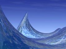 Surreal Ocean Waves and Crest. A 3D Illustration of Surreal Ocean Waves and Crest royalty free illustration