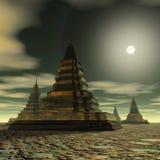 Surreal Pagoda Royalty Free Stock Photos