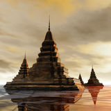 Surreal Pagoda Royalty Free Stock Image