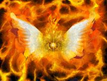Flaming Eye of God Royalty Free Stock Photo