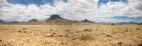 Surreal panorama of the Kaokoland game reserve in Namibia Royalty Free Stock Photos