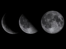 Surreal Planet. Moon Phases Stock Photo