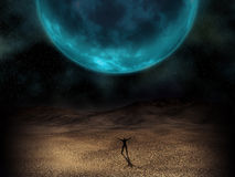 Surreal planet image Stock Images