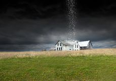 Surreal Rain Storm, Weather, Farm, Barn, Farmhouse