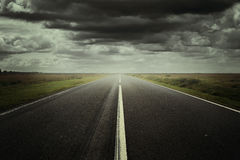 Surreal road background Royalty Free Stock Images