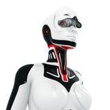 Surreal robot met geopend vizier Stock Foto's