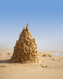 Surreal sand castle on beach Royalty Free Stock Photography
