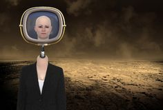 Surreal Science Fiction Robot Woman royalty free stock photos