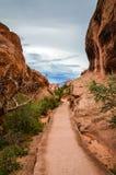 Surreal Sleep - Bogen Nationaal Park - Moab, Utah royalty-vrije stock afbeeldingen