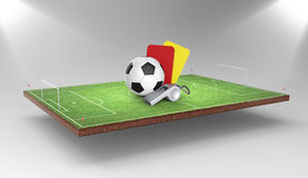 Surreal Soccer concept Royalty Free Stock Photo