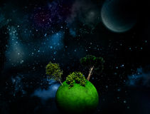 Surreal Space background Royalty Free Stock Photo
