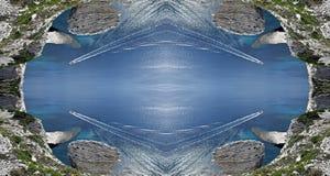 Surreal symmetrische witte klippen van Bonifacio in Corsica Stock Foto
