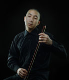 Surreal violinist Royalty Free Stock Photography