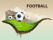 Surreal voetbalgebied Stock Foto's