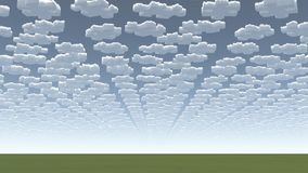 Surreal wolken stock illustratie
