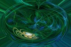 Surreale Fantasiemagie der abstrakten digitalen Fractal creatshine Artexplosionsoberflächendekoration, dynamisch, Überlagerungsen stock abbildung