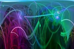 Surreale Fantasiemagie der abstrakten digitalen Fractalexplosionsoberflächendekoration, dynamisch, Überlagerungsentwurf futuristi vektor abbildung