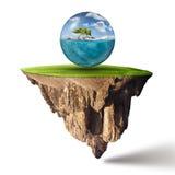Surreale Fantasieszene als globales Reisekonzept Lizenzfreie Stockfotos