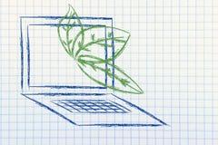 Surreale Interpretation der grünen Wirtschaft Lizenzfreie Stockfotos