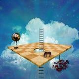 Surrealer Aufbau Lizenzfreie Stockbilder