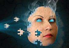 Surrealer Auszug mit menschlichem Gesicht Lizenzfreies Stockfoto
