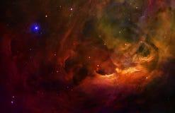 Surrealer Orion-Platz-sternenklarer Himmel stock abbildung