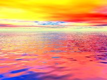 Surrealer Ozean Stockfoto