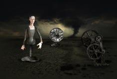 Surrealer Surrealismus-Albtraum-Traum-Sturm Stockbilder