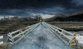 Surreales fogyroad Stockfoto