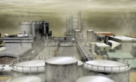 Surreales Industriegebiet Lizenzfreie Stockfotos