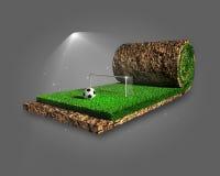 Surreales Konzept des Fußballs stock abbildung