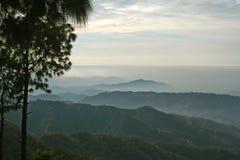 Surreales malerisches nebelhaftes Tal Himalajaindien Stockbild