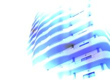 Surrealism abstraction of fragment modern building Royalty Free Stock Image