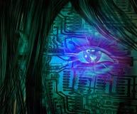 Digital eye royalty free illustration