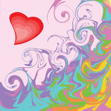 Surrealism heart. Background Surrealism heart. Colorful background with hearts in retro style Stock Photos