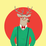 Surrealism Humanlike deer Stock Photography