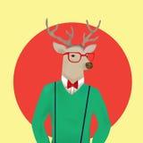 Surrealism Humanlike deer. Surrealism - deers head with mans body Stock Photography