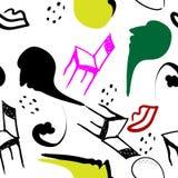 Surrealism stylized seamless pattern Stock Images