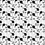 Surrealism stylized seamless pattern stock illustration