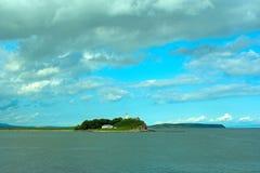 Surrealism vivid seascape coastline. Unity with nature Royalty Free Stock Photos